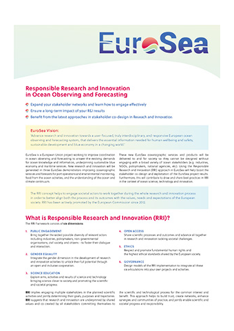 Responsible Research And Innovation In Ocean Observing And Forecasting